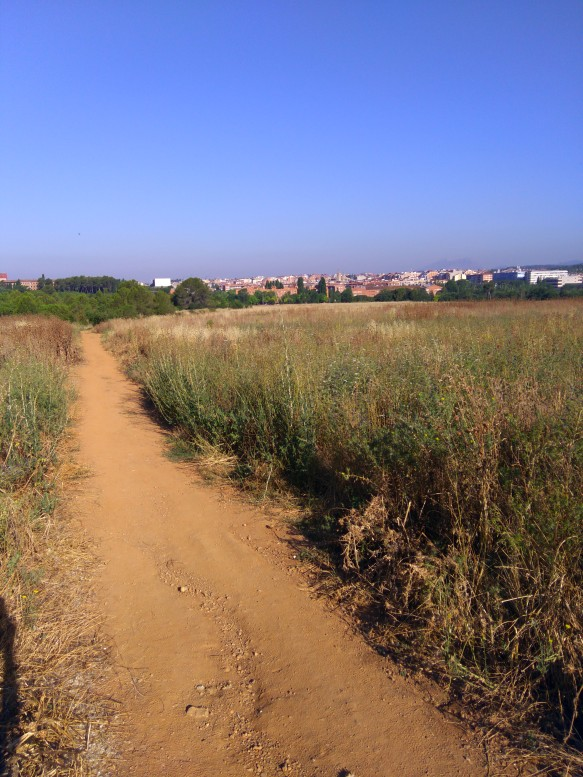 Llegada a Sant Cugat, aprox km 11,7